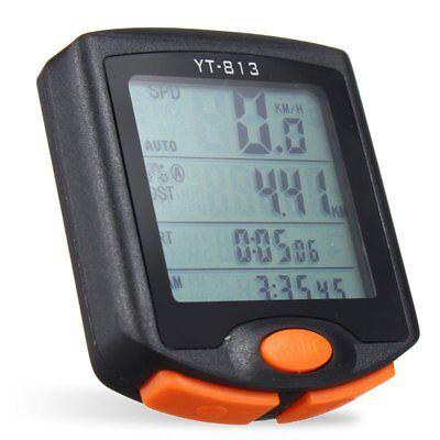Bike Bicycle Wireless LCD Digital Cycle Computer Odometer Speedometer Waterproof