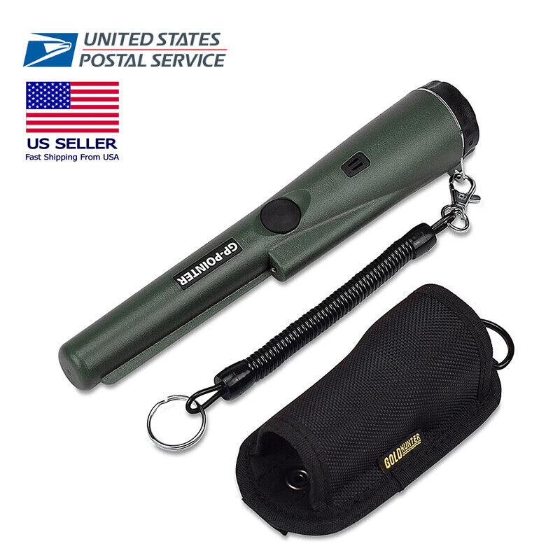 Portable Handheld Metal Detector Pinpointer Gold Hunter Finder LED Waterproof US