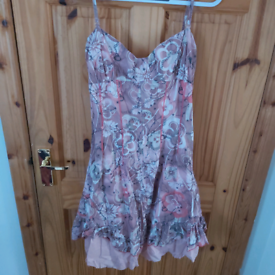 Firetrap ladies patterned dress - size L