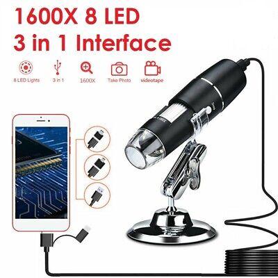 1000x1600x Electronic Endoscope Digital Handheld 8led Usb Magnifier Microscope