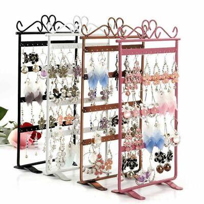 48 Hole Earring Jewelry Organiser Display Rack Metal Stand Holder Closet Storage