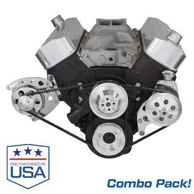 Big Block Chevy Alternator & Power Steering Bracket Combo Pack Short WP 454 BBC