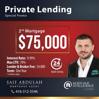 ⭐$75,000⭐ 2nd Mortgage - Private Lending Loan - Special Promo