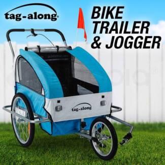 Tag-along Kids Bike Trailer Child Bicycle Pram Stroller Jogger
