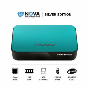 AVOV TV ONLINE+ PLUS SILVER EDITION QUAD-CORE ANDROID IPTV SET-U
