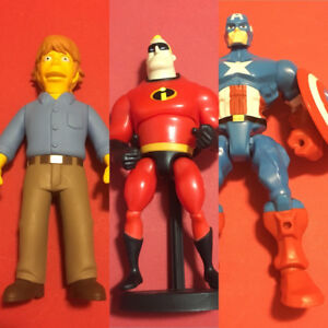 Misc Action Figure Lot Incredibles Simpsons Super Hero Mashers