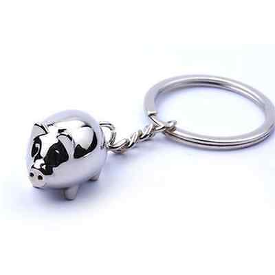 New Fashion Metal Alloy Mini Pig Keyring Keychain Cute Key Ring Charm Ornament U