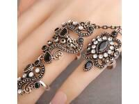 Vintage Turkish Long Finger Ring for Women