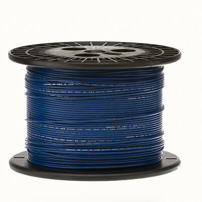 22 Awg Gauge Solid Hook Up Wire Blue 1000 Ft 0.0253 Ul1007 300 Volts