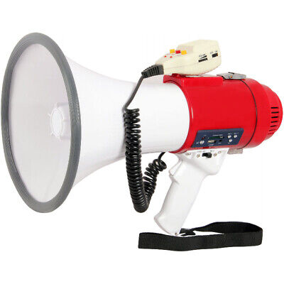 PRO Loud Megaphone Speaker PA Bullhorn Handheld MIC + Siren Voice Recording 77SF Cheerleading
