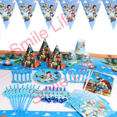 Toy Story Tablecloth (Toy Story 3 Birthday Party Kids Decoration Plates Tablecloth Napkins)