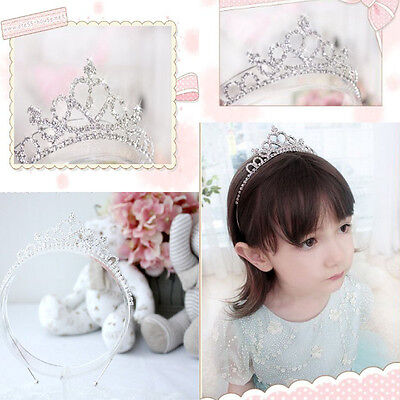 Celebrity Cute Little Girl Rhinestone Princess Crown Headband Tiara Hair Sticks ](Princess Headband)