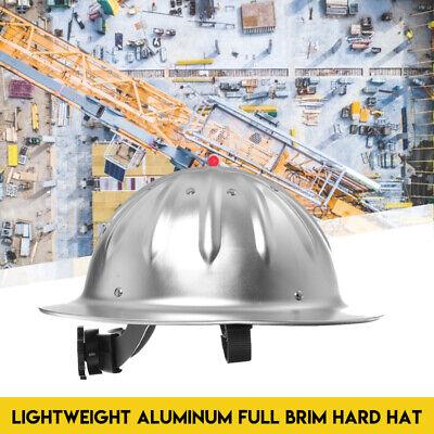 Full Brim Construction Hard Hat Safety Helmet Protection Lightweight Aluminum