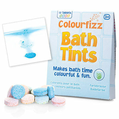 12 Colourfizz Bath Tub Tints Colour Children's Fun Gift for Her Stocking Filler