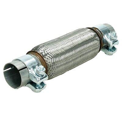 Flexrohr 50x200 mm Flexteil Edelstahl Rohr +2x Schellen Montage ohne Schweißen