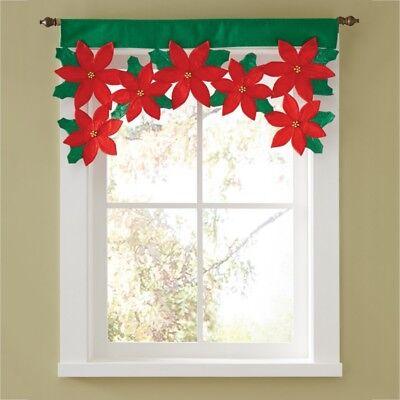 Door Decorate (Christmas Winter Decor Window Drape Curtain Door Valance Xmas Home)