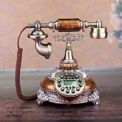 Fashion Telephone Fixed landline Retro telephone European antique corded tele