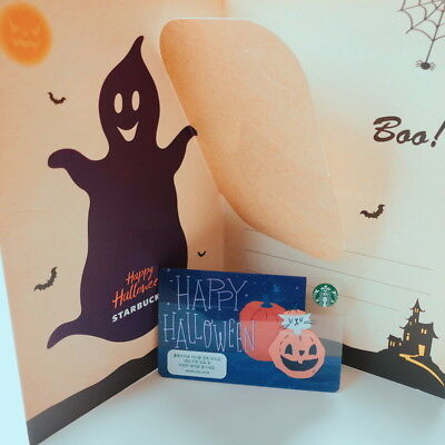 Starbucks Korea  2018 Happy Halloween Card With Original Sleeve ](Halloween Korea)