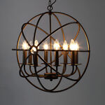 Large Rustic Candle Ceiling Light Iron Chandelier picture