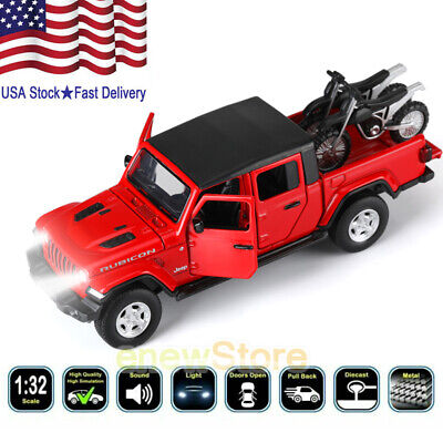Jeep Gladiator Rubicon Pickup 1:32 Diecast Model Car Toy Collection Sound&Light