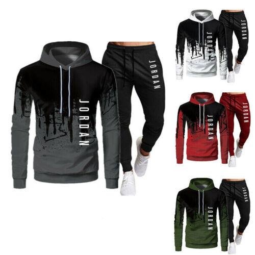 Hose Set 2PC Herren Trainingsanzug Sportanzug Jogginganzug Hoodie Sweatshirt