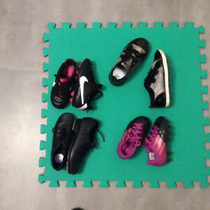 Kids soccer and tap shoes. Size 9, 10.5, 11. $10 each