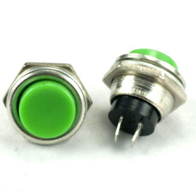 1x Green Off On Momentary Push Button Horn Switch Horn Button New Horn Button