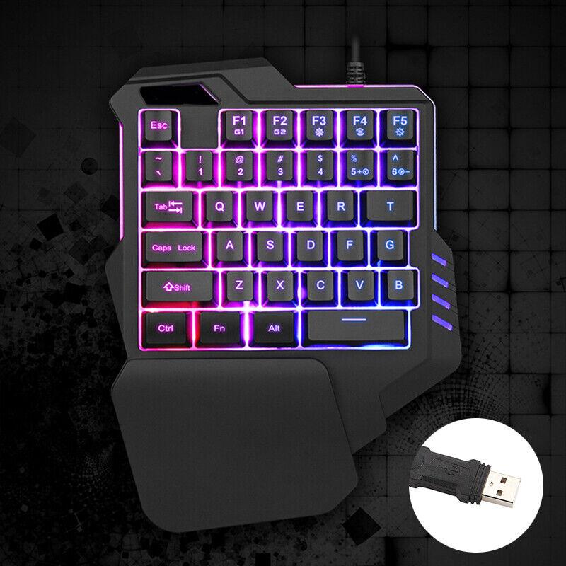 one handed gaming keyboard mechanical ergonomic game