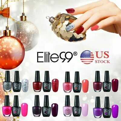 Elite99 Soak Off Gel Polish Color Lacquer Varnish Nail Kit Combo 2pcs Xmas Gift