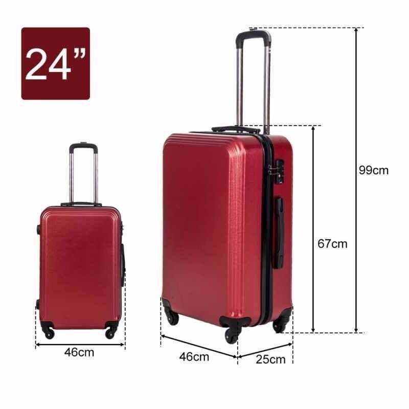 SALE! Super Lightweight Suitcase 4 Wheel Spinner Luggage Travel ...