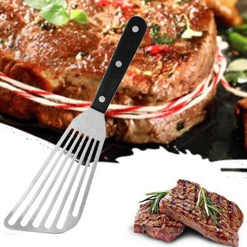 "11x3.15"" Metal Flat Fish Slice Steak Frying Spatula Shovel C"
