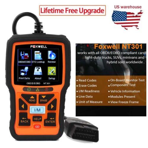 Foxwell NT301 OBD OBD2 Engine Universal Car Code Reader Scan
