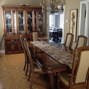 Solid Dining Room Set with 6 Chairs