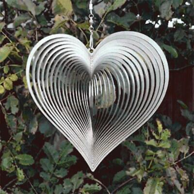 Metal Heart Wind Spinner Garden Chimes Hanging Ornaments for Outdoor Backyard