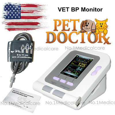 Vet Veterinary Lcd Blood Pressure Monitor Heart Beat Nibp Sphygmomanometer Fda