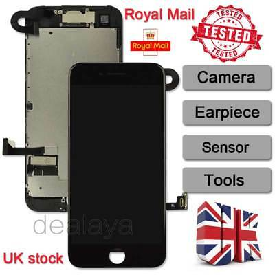 "For Full iPhone 7 4.7"" Touch Screen Display Replacement Digitizer + Camera Black"