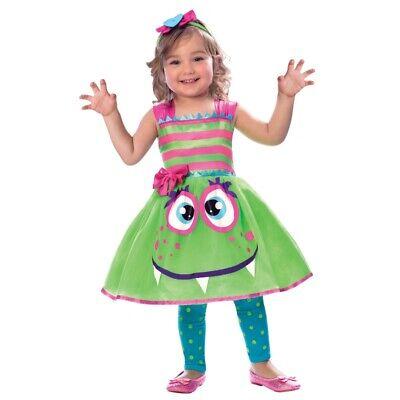 Monster Mädchen Kinder Kostüm Kleinkinder Gr. 98 104 Rock + Haarband - Kleinkind Mädchen Monster Kostüm