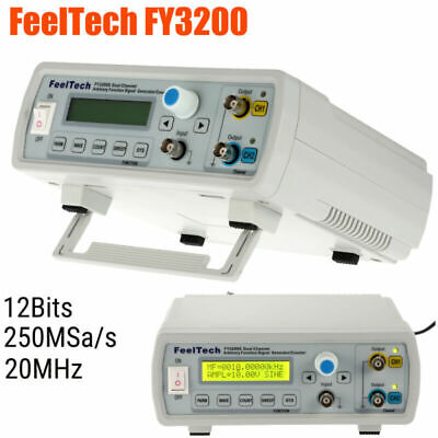 Fy3200-20mhz Dual-channel Dds Function Waveform Signal Generator Counter Fy3200s