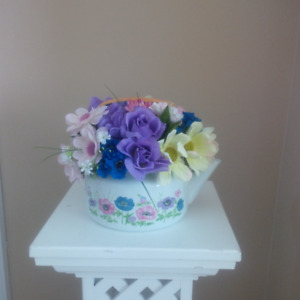Spring silk flower arrangement