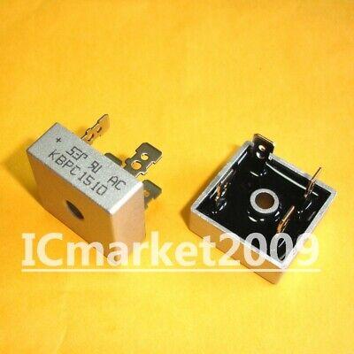 10 Pcs Kbpc1510 Dip-4 Single Phase Silicon Bridge Rectifier