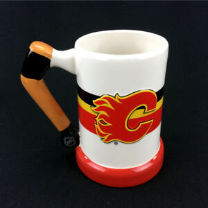 Calgary Flames Jumbo Coffee Mug NHL Beer Stein 3D Ceramic Raised