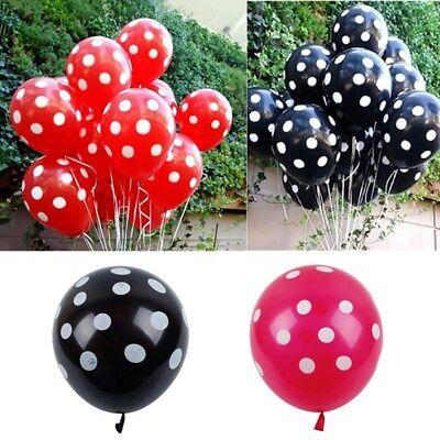 12Pcs Ladybug Red/Black Polka Dot Latex Balloons Wedding Party Warm Decoration