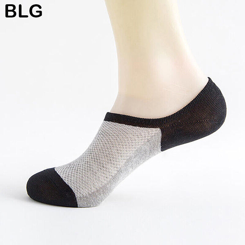 CN one 5 Pairs No Show Cotton Socks Casual Low Cut Thin Invisible Ankle Boat Socks
