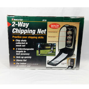 World of Golf 2 Way Chipping Net All Pc Incl JR750 In Box
