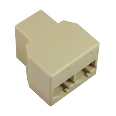 RJ45 CAT5 6 Ethernet cable LAN Port 1 to 2 Socket Splitter Connector Adapter - Rj 45 Lan Port