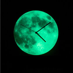 Moon Glow In The Dark Clock Home Decor Clocks Creative Watch Romantic Light New