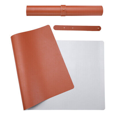 Desk Pad Office Mat 31.5 X 15.7 Pu Leather Blotter Laptop Brown 31.5x15.7