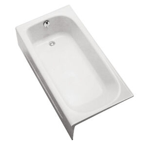 TOTO FBY1515LP01 Enameled Cast Iron Bathtub Left Hand Drain