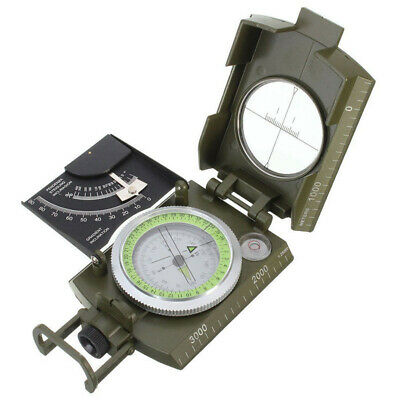 Professional Pocket Military Army Sighting Compass Clinometer Camp Hiking Gear
