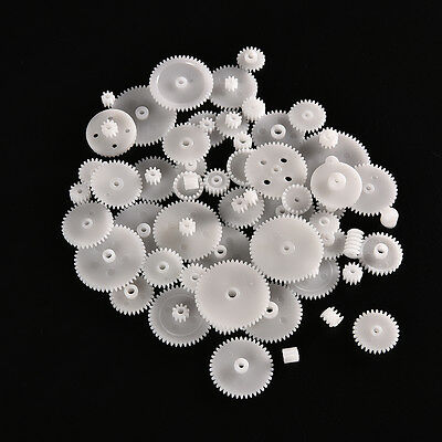 58pcs Plastic Gears M0.5 For Motor Robotics Model Shaft Part Diy Helicopter Cyn